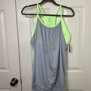 NWT OLD NAVY WORKOUT TANK WITH BRALETTE NEON